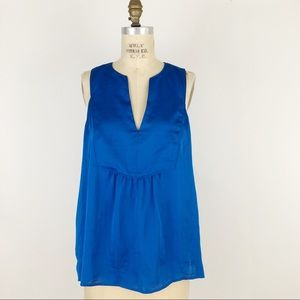 Maeve Anthropologie v neck satin sleeveless top